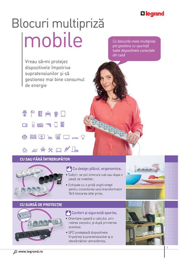 Brosura Legrand Blocuri multipriza mobile (MOES) Legrand
